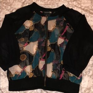 Forever 21 Zip up blouse